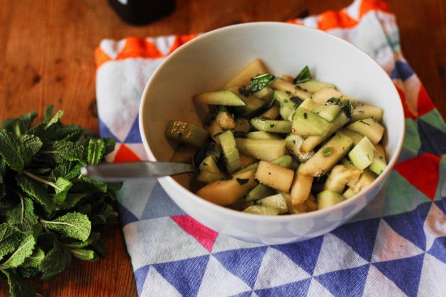 melonen-gurken-salat vegan