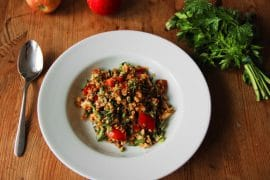 rote-linsen-salat vegan & glutenfrei