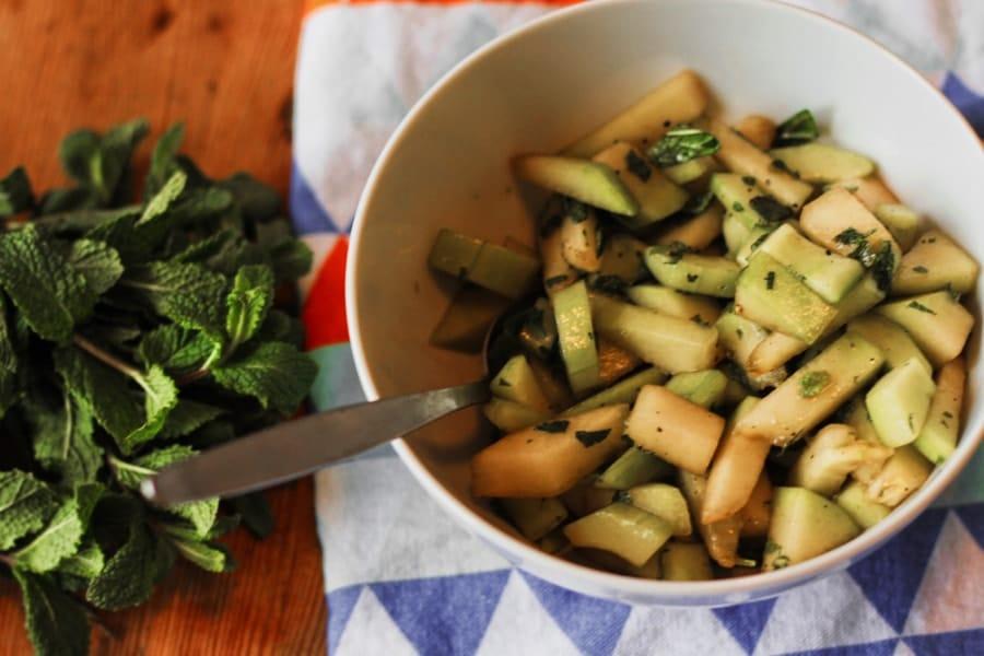 veganer melonen-gurken-salat glutenfrei