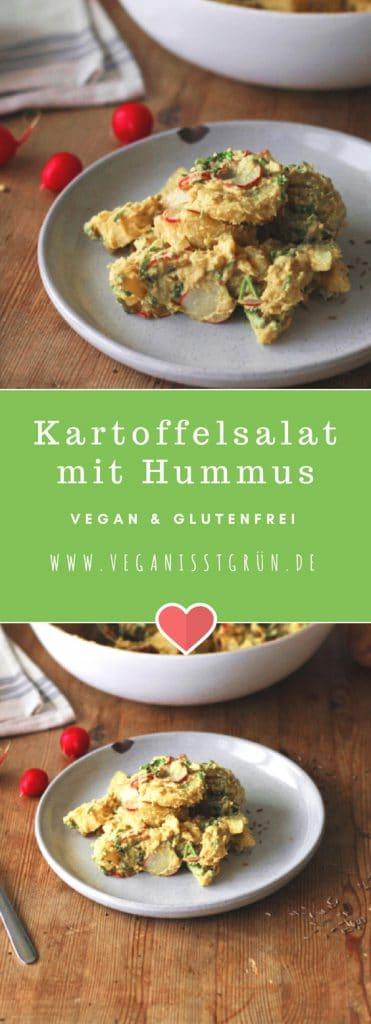 Kartoffelsalat mit Hummus Dressing vegan & glutenfrei