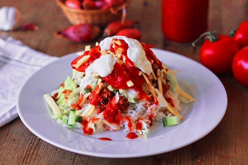 Okinawa Taco Reis vegan & glutenfrei