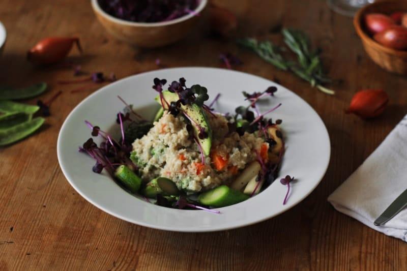 Quinoa Risotto mit frischem Spargel vegan & Glutenfrei