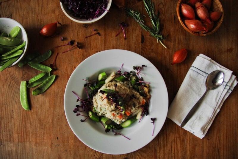 Quinoa Risotto mit frischem Spargel