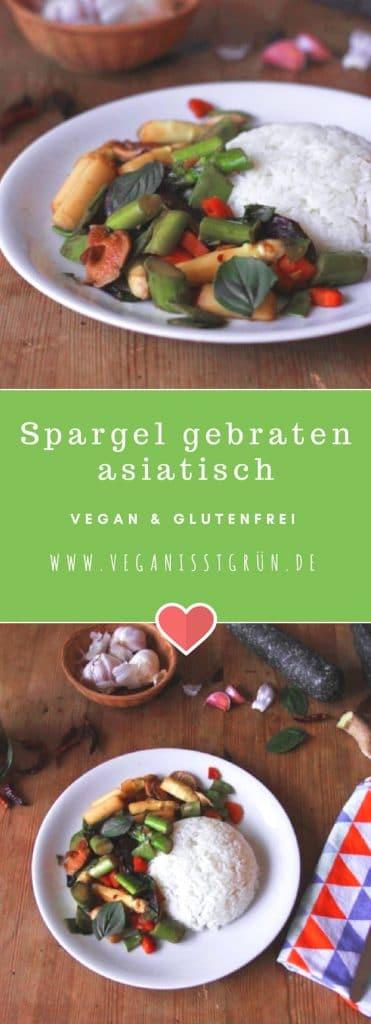 Spargel gebraten asiatisch mit Shiitake Pilzen vegan & glutenfrei-min