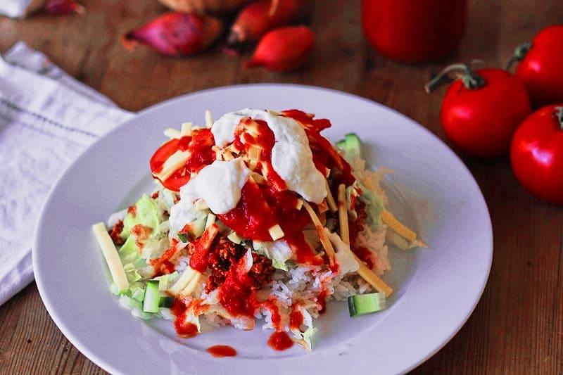 taco reis vegan glutenfrei
