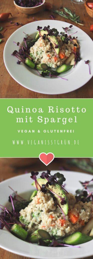 Quinoa Risotto mit frischem Spargel vegan & glutenfrei (1)-min