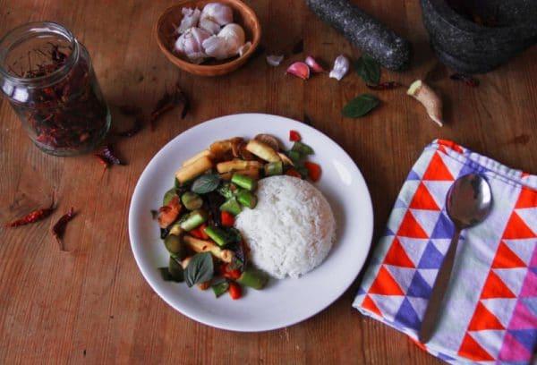 Spargel gebraten asiatisch vegan & glutenfrei