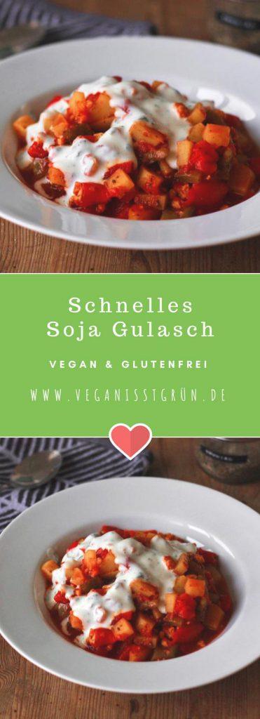 Schnelles Soja Gulasch vegan und glutenfrei rezept