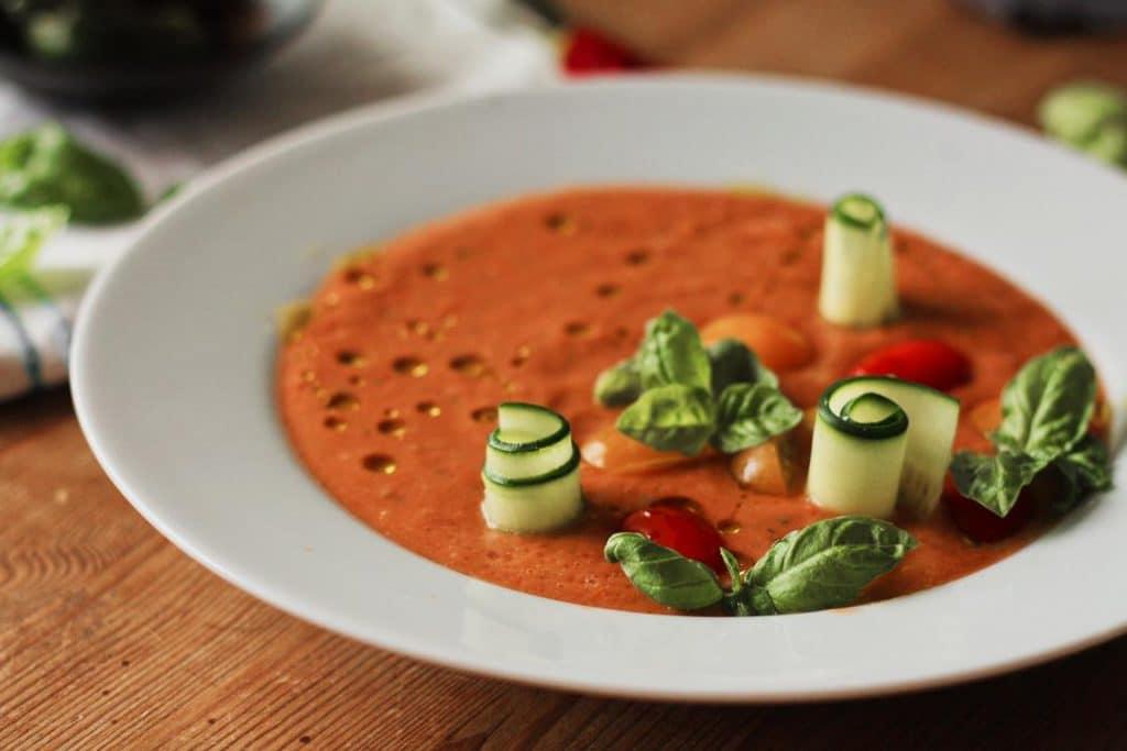 Einfache Gazpacho Suppe vegan & glutenfrei