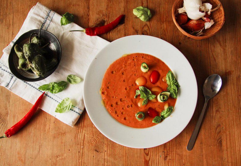 Einfache Gazpacho vegan & glutenfrei
