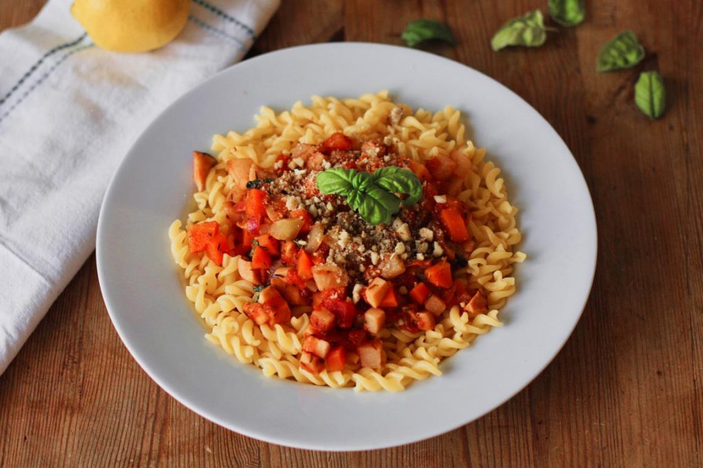 Gemüse Bolognese vegan & glutenfrei