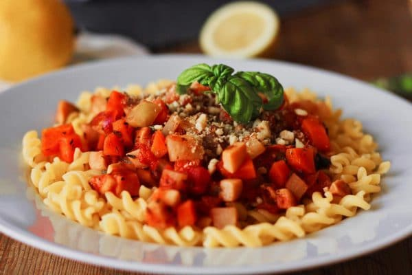 vegane Gemüse Bolognese
