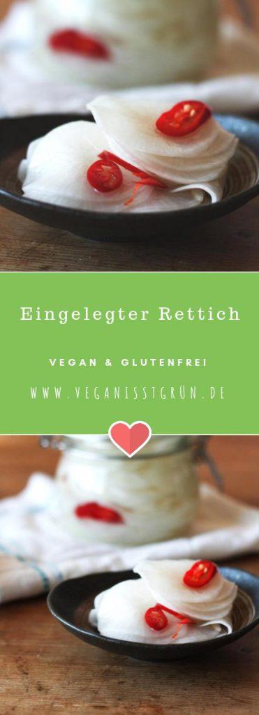 Eingelegter Rettich vegan & glutenfrei