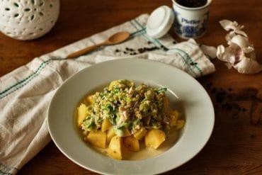 Kartoffeln mit Lauchgemüse vegan