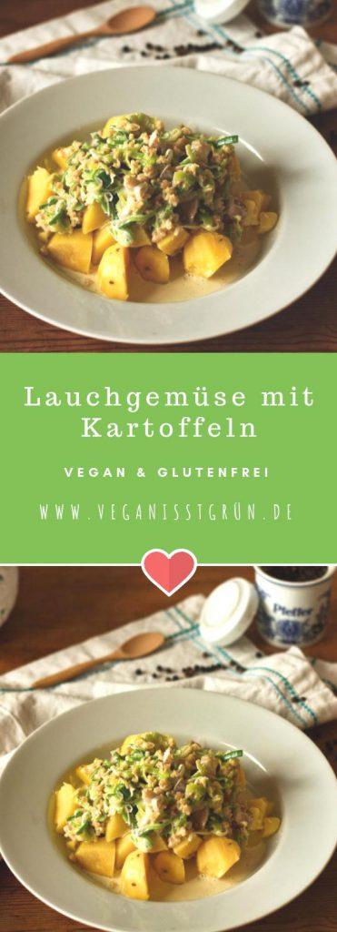 Lauchgemüse mit Kartoffeln vegan und glutenfrei